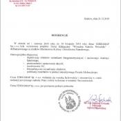 Pismo z referencjami - Wawel