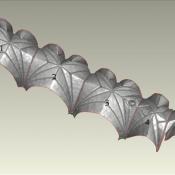 Model 3D sklepienia Katedry