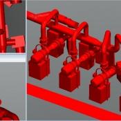 Model 3D - przepompownia
