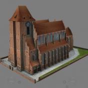Katedra Świętych Janów w Toruniu - model 3D