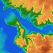Numeryczny Model Terenu w barwach mapy topograficznej