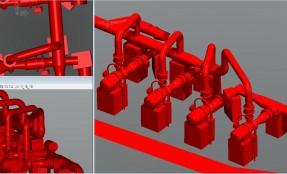 Model 3D instalacji przemysłowej