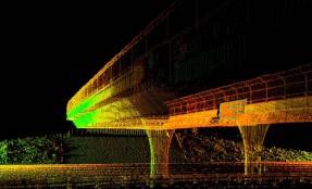 Skaning laserowy wiaduktu